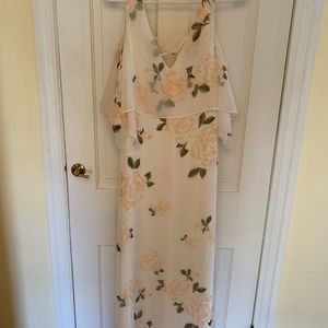 Popular white floral dress from Lulu's